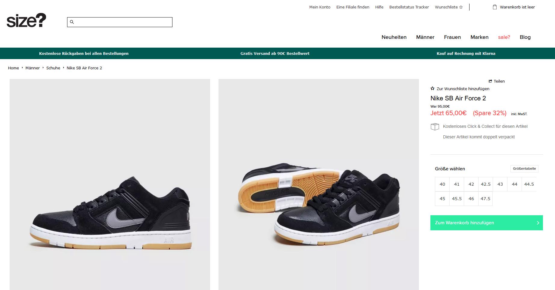 Nike Air Force II Low _ Sneaker schwarz3