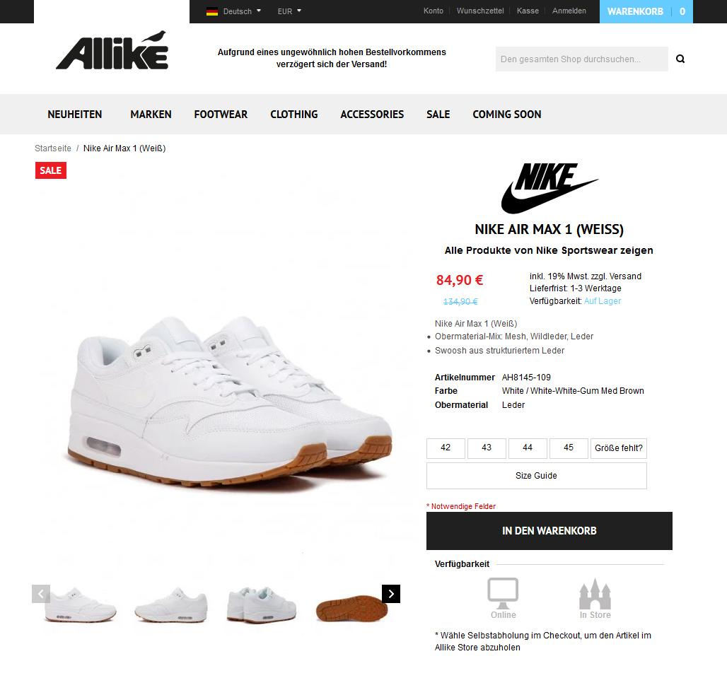 Nike Air Max 1 (Weiß)3
