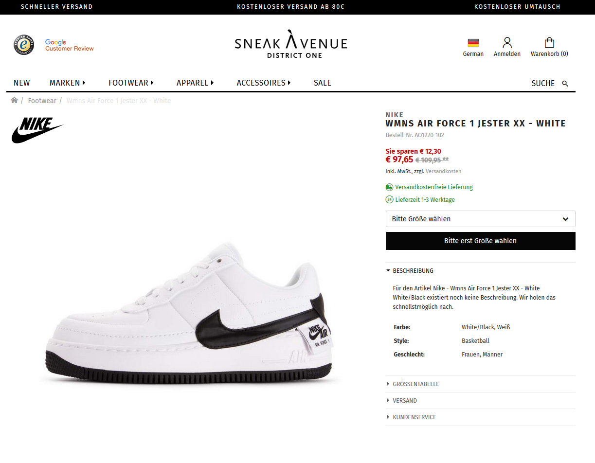Nike Wmns Air Force 1 Jester XX _ White3
