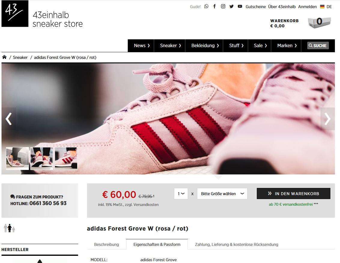 adidas Forest Grove W (rosa rot) für nur 60,00 € It's Maxx